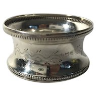 1921 English Sterling Silver Napkin Ring
