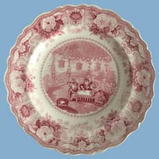 """English Staffordshire Red Transfer Ware     """"Chinese Juvenile Sports"""""""