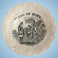 "1852 Gift for Good Children Toy Plate, ""Band of Hope"""