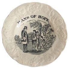 """1852 Gift for Good Children Toy Plate, """"Band of Hope"""""""