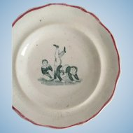 1840 Staffordshire Child's Toy Transferware Plate