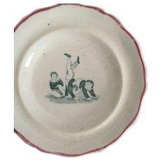 1840 Staffordshire Child's Toy Transferware Plate