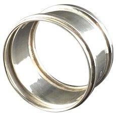 1911 English Hallmarked Sterling Silver Napkin Ring