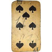 Seven of Spades Tarock Playing Card