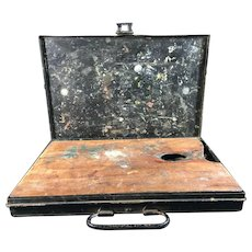 Vintage Reeves and Sons Metal Oil Paint Box with Contents