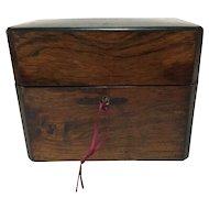 Victorian Inlaid Flame Mahogany Decanter Box