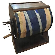 Vintage Ballot or Raffle Rotating Drum