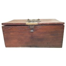 English Oak Document Crafts Box