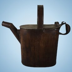 English Tole Ware Large Water Can