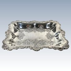 Scalloped Silver Plate Serving Dish
