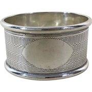 English Sterling Silver Napkin Ring Hallmarked 1910