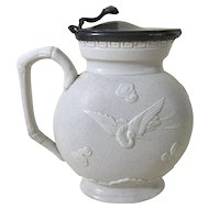 1850 English Relief Molded Jug