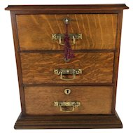 English Miniature Walnut Chest of Drawers