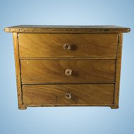 Pine Miniature Chest of Drawers, England, c. 1910