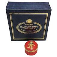 English Enamel Trinket Box   'Birthday Bear'