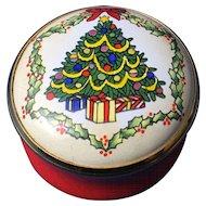 English Enamel Trinket Box, 'Christmas Tree'