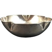 Hand Hammered Sterling Silver Bowl by F. Novick
