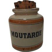Vintage  French Mustard (Moutarde) Jar, Hallmarked