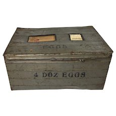 1920's Metal Parcel Post 4-Dozen Egg Crate Used for Shipping