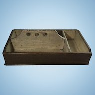English Three Compartment Cutlery Box          * Primitive