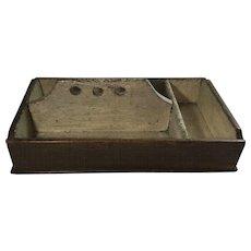 English Three Compartment Cutlery Box          * Primitive
