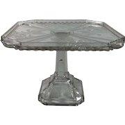 English Press Glass Pedestals Cake Stand, C.1891