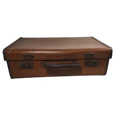 English Vintage Leather Suitcase
