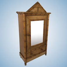 Child's Doll House Armoire. C.1890