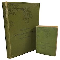 Encyclopedie des Ouvrages de Dames, Hardcover, 1884, and Smaller Size Soft Bound of Same Book