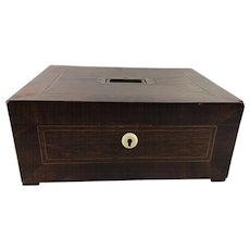 William IV Mahogany Document Box with Brass Handle
