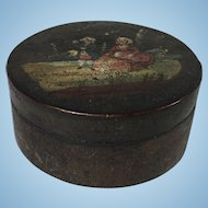 English Paper Mache Snuff Box