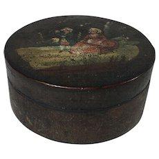 English Paper Mache Snuff Box