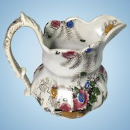 English Polychrome Jug.  C.1850