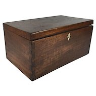 English Victorian Mahogany Cash Box with Removable Cash Tray