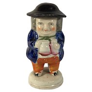 English Mustard Pot Toby Figurine