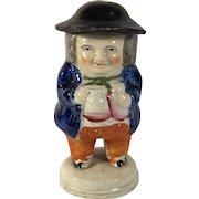 English Mustard Pot Toby Figurine