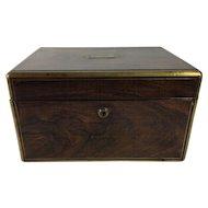 English Victorian Burr Walnut Dressing Box