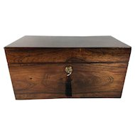 C.1880 Tea Caddy, English with Double Compartments