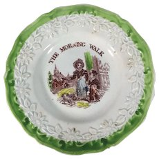 English Gift Plate for a Child.  C.1860