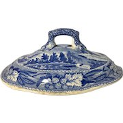 C. 1840 English Blue and White Sauce Boat Lid