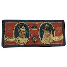1902 Coronation Tin Edward VII & Queen Alexandra