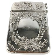 English Sterling Silver Calling Card Case