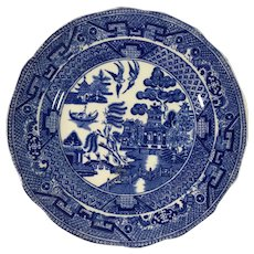 C. 1900 Blue Willow Plate