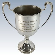 English Silver Plate Snooker Trophy