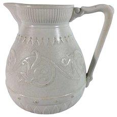 1870 English Salt Glaze Jug