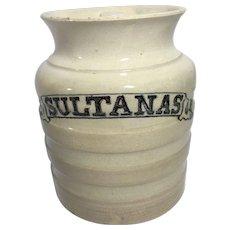 English Sultanas Ironstone Container.   C.1900