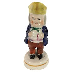 English Toby (Prestopan) Condiment Figurine, C.1850