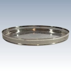English Silver Plated Drinks Salver