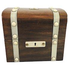 19th Century French Amboyna Decanter Box