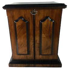 English Rosewood & Satinwood Combination Stationary Cabinet & Writing Slope